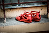 little red shoes (soundmoods) Tags: shoe red child china window