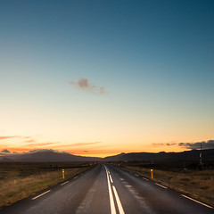 On the road in Iceland (Zeeyolq Photography) Tags: road sunset islande iceland vesturland is