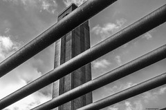 Tate Modern © (wpnewington) Tags: london tate monochrome sky brutal brick tower brutalism