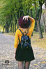 Autumn walks (Focus_On_Me_Photo) Tags: autumn girl portrait outdoor yellow hat back faceless