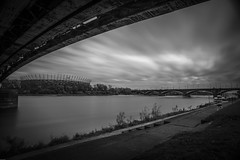 Warsaw frame (k#OCZY#k) Tags: warsaw sky poland water vistula monochrome river nikon longexposure tamron nd1000 nisi bridge daarklands