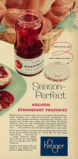 1957 Food Ad, Kroger Strawberry Preserves