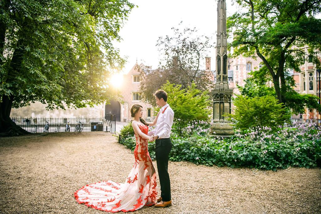倫敦婚紗 劍橋大學婚紗拍攝 禮服: Toris Wedding