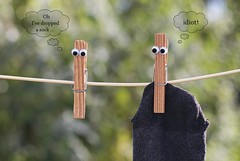 46/52 ... It's the little things: clothes pegs (Chickpeasrule) Tags: clothes pegs clothespegs washing line googly eyes humour itsthelittlethings bokeh