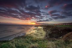 Daybreak (Mark240590) Tags: yellow blue green coastline coast cliffs beach winter cold england uk unitedkingdom northeast southtyneside southshields marsden sunset sunrise sunshine