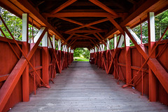 Trostletown Bridge (laurenspies) Tags: stoystown pennsylvania usa northamerica appalachia alleghenyplateau unitedstates us somersetcounty bridge coveredbridge red architecture pa