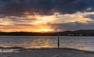 Overcast Sunrise Waterscape