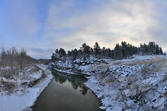 the freezing Musselshell River (l i v e l t r a) Tags: fx 15mm nikkor roundup montana mt musselshell river snowy ice cold freezing rocky natural lighting clouds