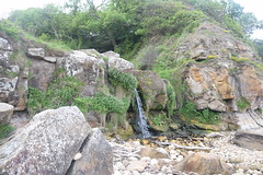 Waterfall (Worthing Wanderer) Tags: yorkshire nationalpark northyorkshiremoors northyorkshire cloudy overcast cloughton spring june railtrail coast cliffs clifftop cliff