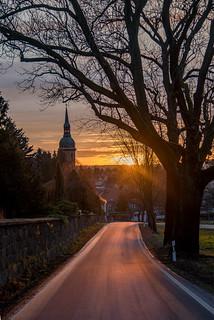 Sonnenuntergang in Ebersbach
