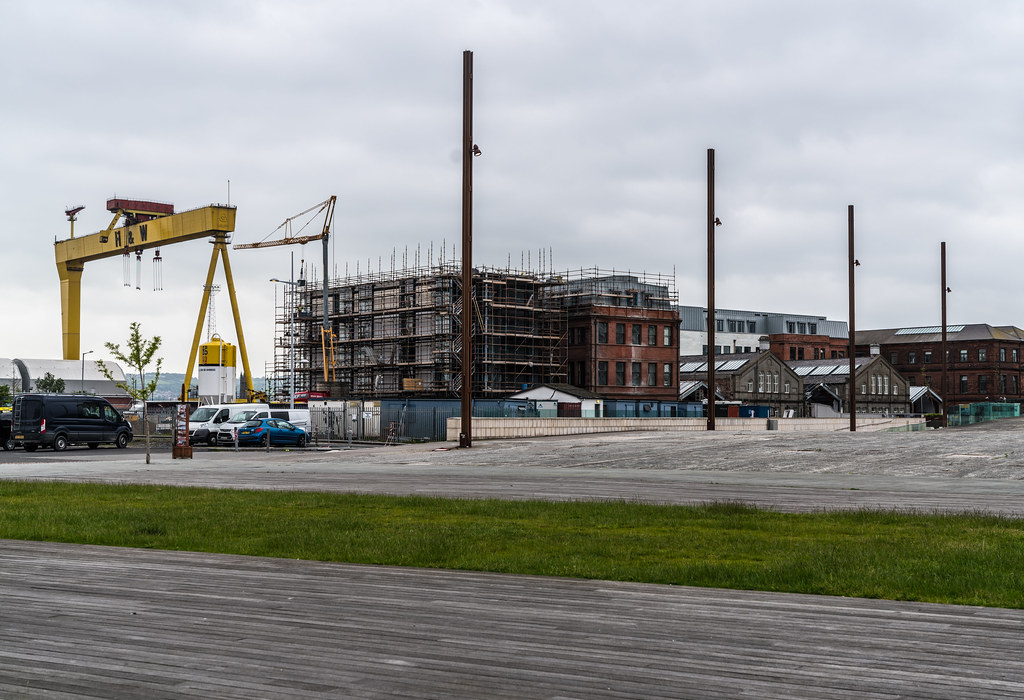 VIEW OF THE FAMOUS CRANES [SAMSON AND GOLIATH IN BELFAST]-134116
