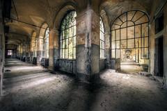 Silent corridor (Michal Seidl) Tags: abandoned hospital mental asylum abbandonato manicomio ospedale rossetti italy opuštěná psychiatrická léčebna nemocnice blázinec hdr urbex infiltration corridor canon