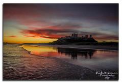 Bamburgh castle sunrise (R0BERT ATKINSON) Tags: bamburghcastle northumberlandcoast northumberland sunrise cloud sky water northeastengland robatkinsonphotography nikond5100 sand beach