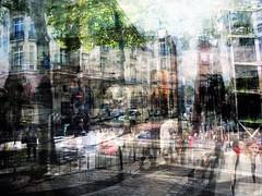 wirwar (roberke) Tags: people mensen personen photomontage photoshop layers lagen textures textuur creation creative creatief fantasy surreal huizen tree boom