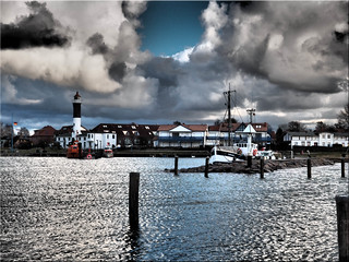 The harbor of Timmendorf on the island Poel