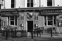 Bergger pancro 400 D76H Divided (Man with Red Eyes) Tags: pub stanleyarms door sign f6 nikon nikonf6 berggerpancro400 bergger divided d76h 5minsa5minsb v850 analog analogue blackwhite monochrome silverhalide northwest preston lancashire filmtest developertest 50mmf18ai nikkor