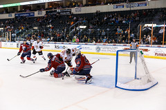 "Kansas City Mavericks vs. Kalamazoo Wings, November 29, 2017, Silverstein Eye Centers Arena, Independence, Missouri.  Photo: © John Howe / Howe Creative Photography, all rights reserved 2017 • <a style=""font-size:0.8em;"" href=""http://www.flickr.com/photos/134016632@N02/38713477872/"" target=""_blank"">View on Flickr</a>"