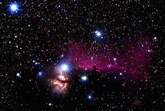 The Horsehead and Flame (pablo_blake) Tags: horseheadnebula flamenebula ngc434 ngc2024 ngc2023 ic435 ic432 ic431 barnard33 orion d5500 nikon astrometrydotnet:id=nova2346429 astrometrydotnet:status=solved ioptronskytracker beautifulrealm
