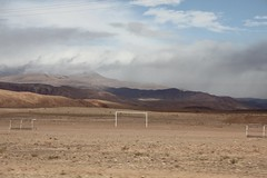 Football rules the world (Ivo L.) Tags: atlasmountains morocco football pitch goal travel countryside dust