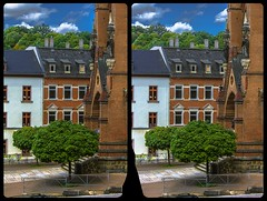 Mylau Cathedral portal 3-D / CrossEye / Stereoscopy / HDR / Raw (Stereotron) Tags: saxony sachsen vogtland mylau reichenbach kathedrale kirche gothic gotik neugotisch crosseye crosseyed crossview xview cross eye pair freeview sidebyside sbs kreuzblick 3d 3dphoto 3dstereo 3rddimension spatial stereo stereo3d stereophoto stereophotography stereoscopic stereoscopy stereotron threedimensional stereoview stereophotomaker stereophotograph 3dpicture 3dglasses 3dimage hyperstereo twin canon eos 550d yongnuo radio transmitter remote control synchron kitlens 1855mm