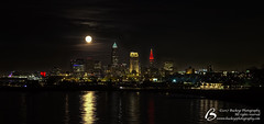 20171203 - Cleveland Skyline with Full (Super) Moon - DSCF7925 (Buckeye Photography) Tags: oh ohio supermoon cleveland xt2 erie lake super full browns buildings city ernst fuji fujifilm indians keybank moon night reflection skyline stadium terminal tower xtrans young