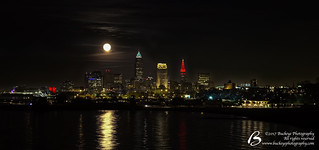 20171203 - Cleveland Skyline with Full (Super) Moon - DSCF7925