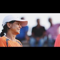 (anil bhatt) Tags: head candid cinematic 77d bokeh white cap woman smile morning beach trivandrum india f2 135mm canon77d
