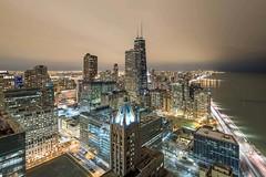A night view from the sky deck at Axis apartments in Streeterville (YoChicago) Tags: chicago yochicago highrise apartments streeterville nearnorthside skyline night views axis groupfox rooftop