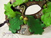 Green Man Mask (detail) (Fulgorine) Tags: greenman fantasy polymerclay mask masquerade papermache oak acorn