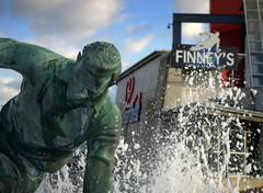 Finney at Finney's (Tony Worrall) Tags: preston north northwest lancs lancashire england northern uk update place location visit area county attraction open stream tour country welovethenorth unitedkingdom english british capture outside outdoors caught photo shoot shot picture captured sculpture statue finney wet water fountain finneys sirtomfinney footballer player splash memorial sell buy bought costs onsale buythisphoto