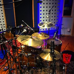 Keeping the Beat (Pennan_Brae) Tags: musicproduction soundengineer soundengineering cymbal cymbals drumset drummer drumkit drum musicstudio microphones microphone recordingsession recordingstudio musicphotography percussion music recording drums