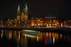 Sint-Nicolaas kerk Amsterdam (laagwater) Tags: sintnicolaaskerk amsterdam basiliekvandeheiligenicolaas night komura sankyokohki ltm m39 rangefinderlens sonya7