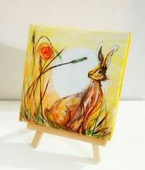 Rabbit (Sukhada Arts) Tags: painting art artist acrylic acrylics miniature rabbit