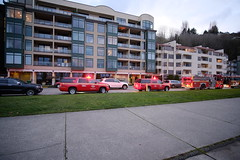 Lots of firefighters are gathering to Marination / Seacrest Park. (alextutu1821) Tags: marination westseattle firefighters seacrestpier seattle