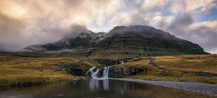 Kirkjufellsfoss Panorama (Mike Ver Sprill - Milky Way Mike) Tags: kirkjufellsfoss kirkjufell mountains mountain range clouds landscape nature autumn fall foliage reflections water river stream iceland panorama icelandic