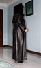 Soft Leather Lady (johnerly03) Tags: erly philippines filipina asian msfoxcy shiny black long leather coat trench high heel knee length boots hair