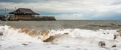 rough sea (philbarnes4) Tags: broadstairs thanet england dslr seaview waves pier windturbines philbarnes nikond80 seaside coast roughwater tide
