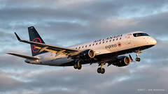 Air Canada Embraer ERJ-175 (josephA_mtl) Tags: airport airplane aircraft landing sunset montreal yul trudeauairport