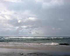 Long Reef  #758 (lynnb's snaps) Tags: 2011 isolette longreef portra160nc clouds landscape ocean sydney coast 120film agfaagnar85mmf45 agfaisolettei mf beach colour film folder mediumformat nature waves australia kodakfilm vintagecameraphotography couleur