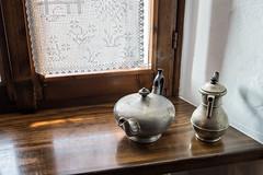 Old teapots in Malaspina Castle of Varzi - Oltrepò pavese - province of Pavia - Lombardy - Italy (PascalBo) Tags: nikon d500 europe italia italie italy lombardy lombardia lombardie pavia pavie varzi indoor indoors oltrepòpavese malaspina castle château pascalboegli