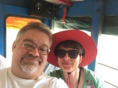 "Tracey and Scott on the Chiva bus in Cartagena, Columbia • <a style=""font-size:0.8em;"" href=""http://www.flickr.com/photos/28558260@N04/24946980938/"" target=""_blank"">View on Flickr</a>"