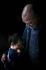 Grandpa and grandson, all love! (R. Scholte) Tags: familyfirst people kid child grandpa baby smile beautiful color colors nikon nikond3300 portrait dark photo picture photography blur bokeh