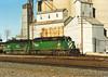 BN with Farmer's Elevator at Mendota 1993 (Ray Tutaj Jr) Tags: bn burlington northern farmers elevator grain corn mendota illinois tutaj