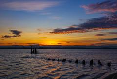 Sunset on Columbia River - from Washington Side (Wayne~Chadwick) Tags: wintler park vancouver washington