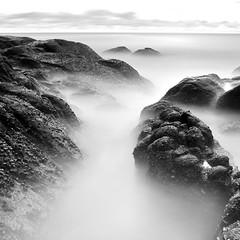 DSC_0100 (pattana92392) Tags: seawave sea longexposure sunset coast water fineart stone blackwhite