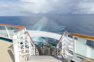 Sillage du bateau, Antilles - 3738