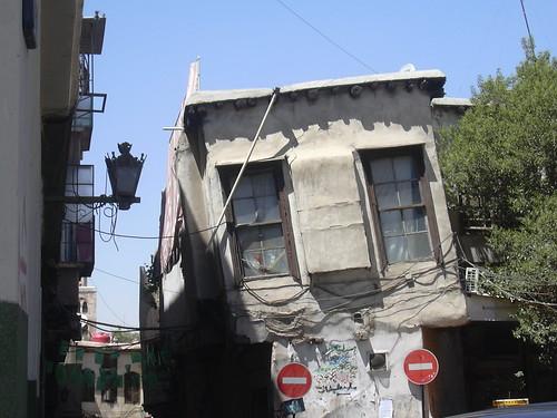 Damaskus, Schiefes Haus in der Geraden Straße (via recta)