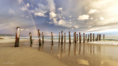 St Clair Pier, Dunedin, South Island, New Zealand. (Aaron Bishop Photography) Tags: stclair saintclair pier jetty rainbow beach ngc nz newzealand southisland aotearoa aaronbishopphotography storm reflection