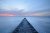 Dawlish Jetty (Rich Lukey) Tags: sunrise devon dawlish coast sea jetty nikon d7100 1685mm dawn longexposure minimalist