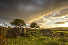 Autumn Sunset on Beacon Hill (John__Hull) Tags: sunset hill countryside beacon leicestershire charnwood woodhouse eaves uk nikon england d3200 sigma 1020mm trees clouds sun light rock rocky outcrop breath taking landscapes